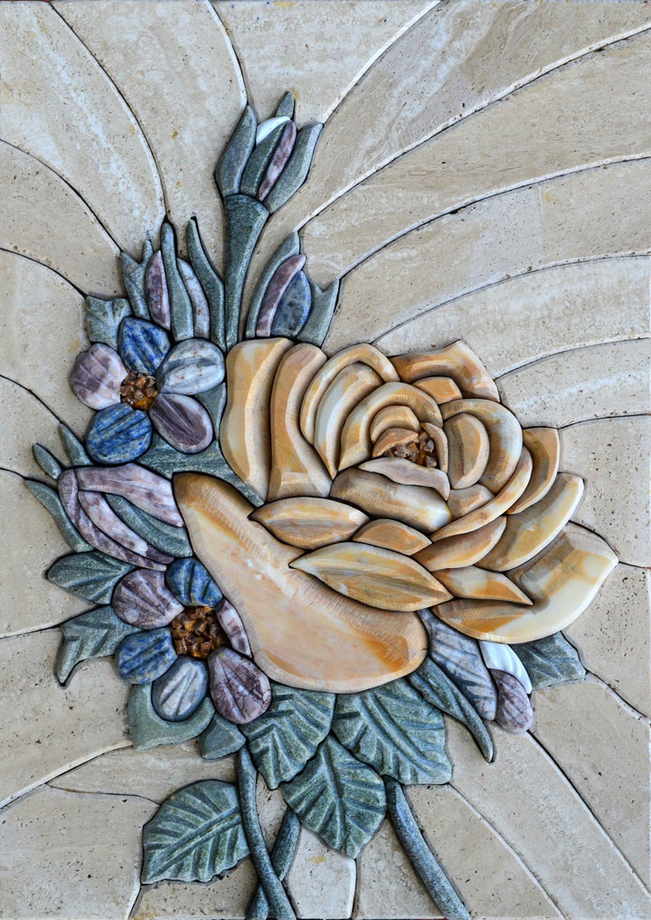 Mosaic 3D Art - Flowers and Petals
