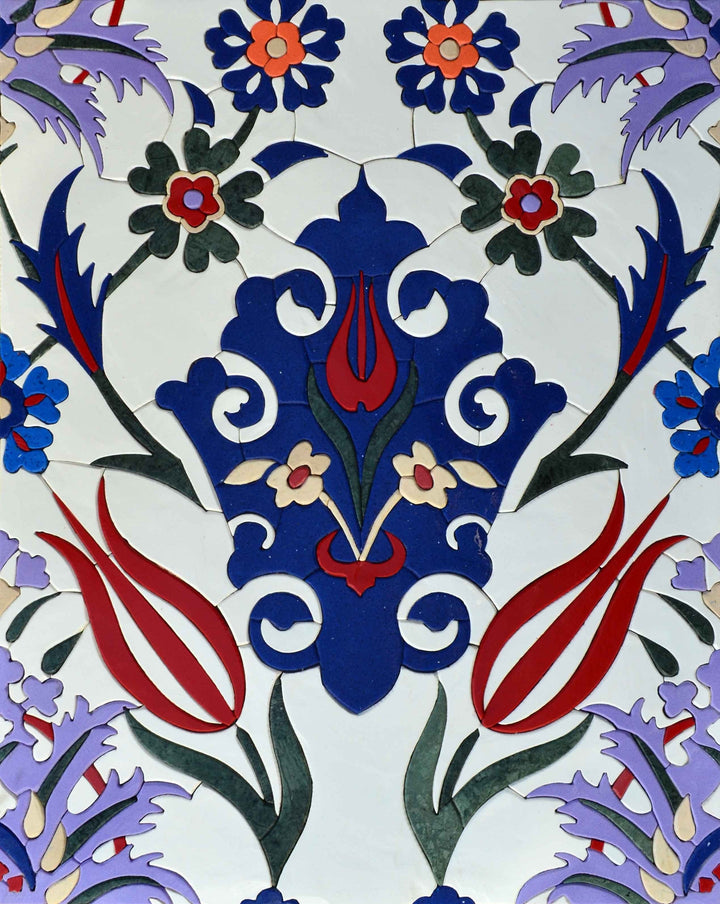 Flower Pattern Mozaic Art