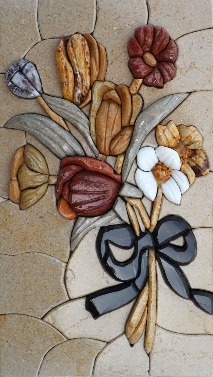 Mosaic Stone Art - 3D Flower