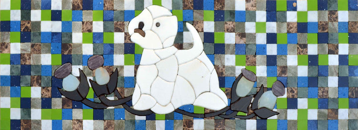 Custom Mosaic Art - Beagle Illustration