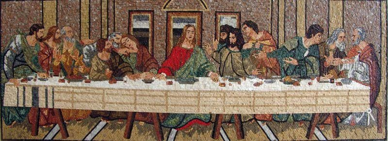 Last Supper Marble Mosaic