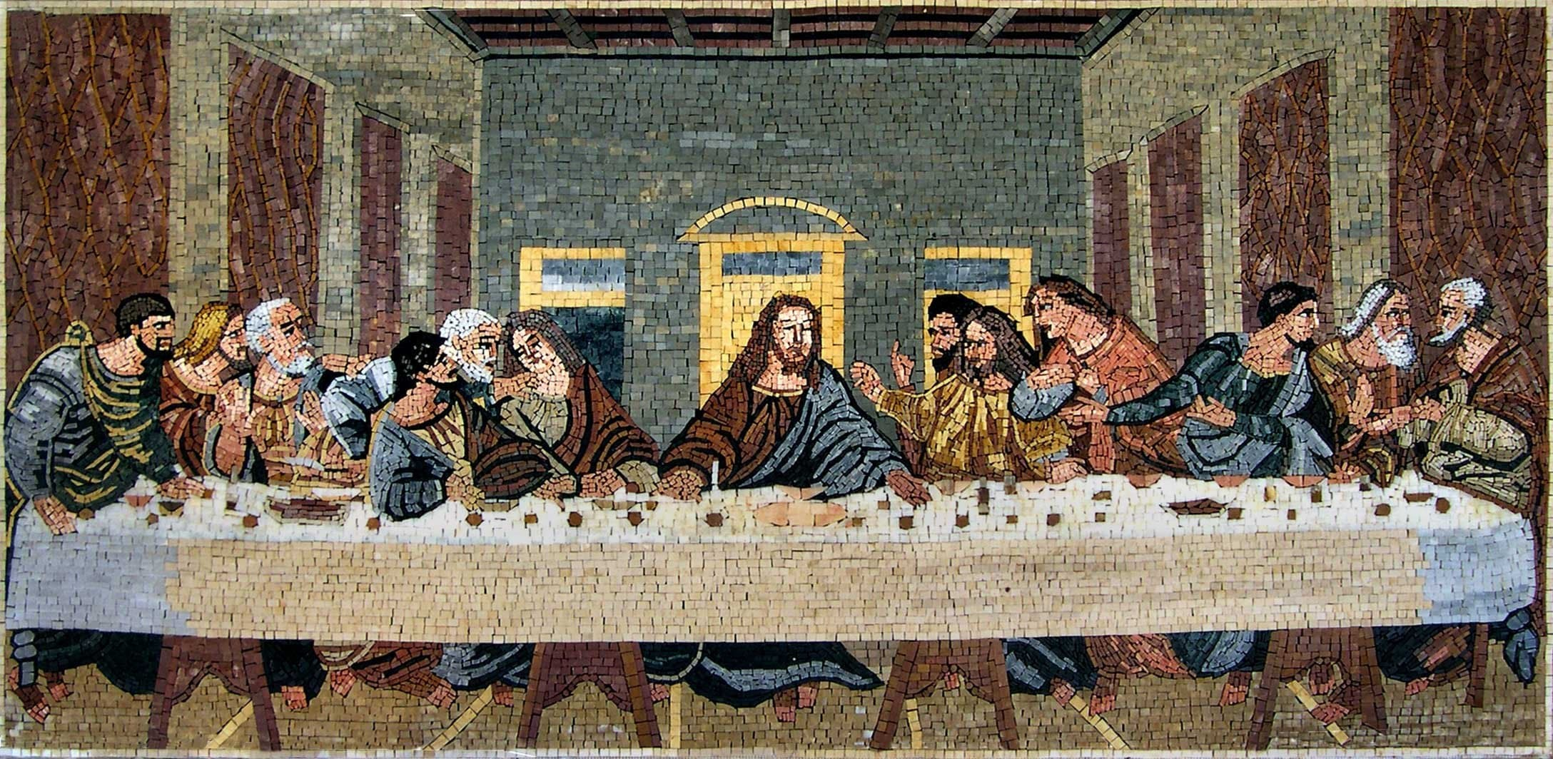 Last Supper Reproduction Mosaic Pic