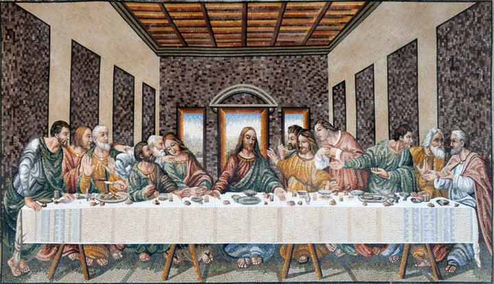 €¢ Leonardo da Vinci Last Supper Reproduction Mosaic