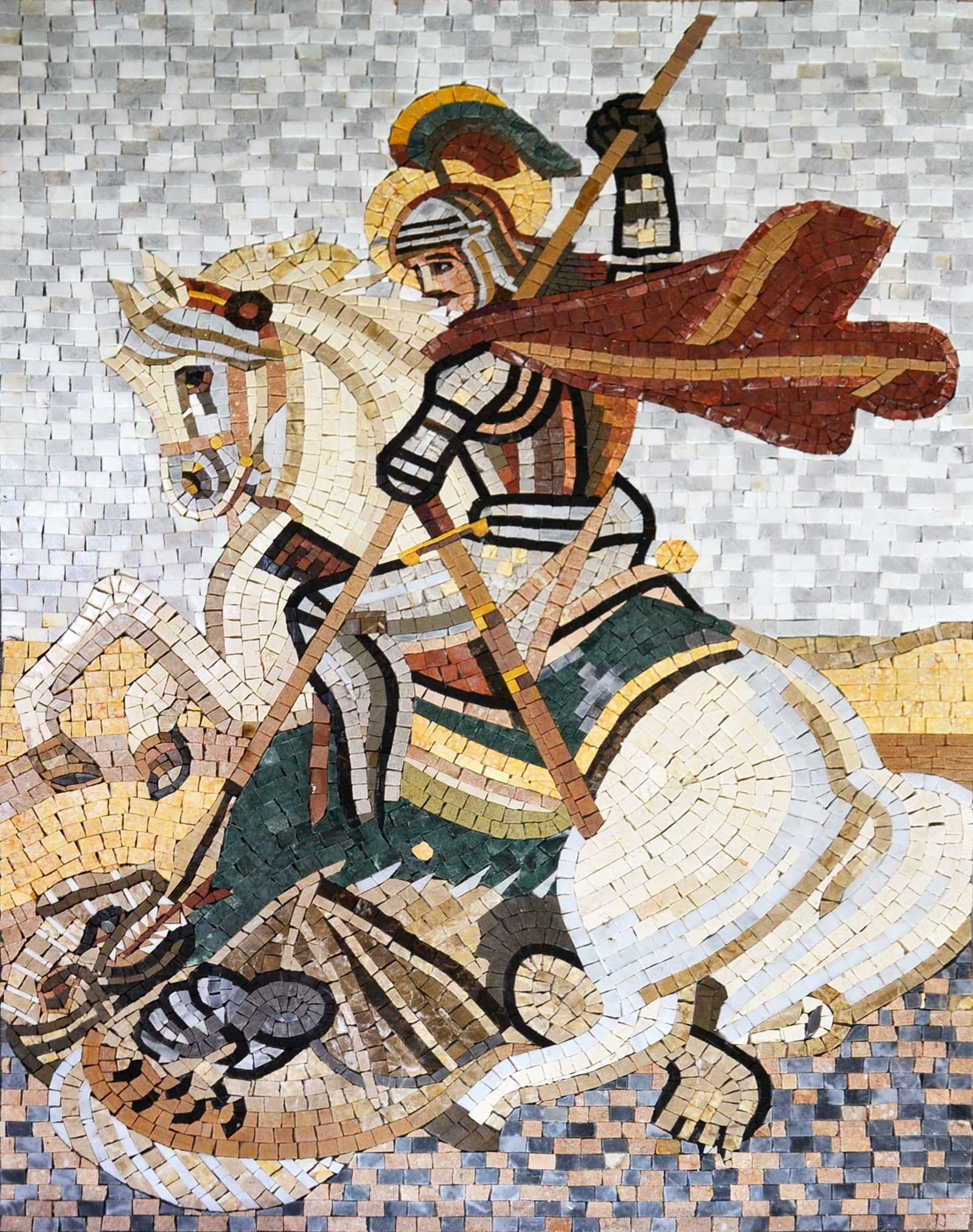 St George Marble Mosaic Art Pic