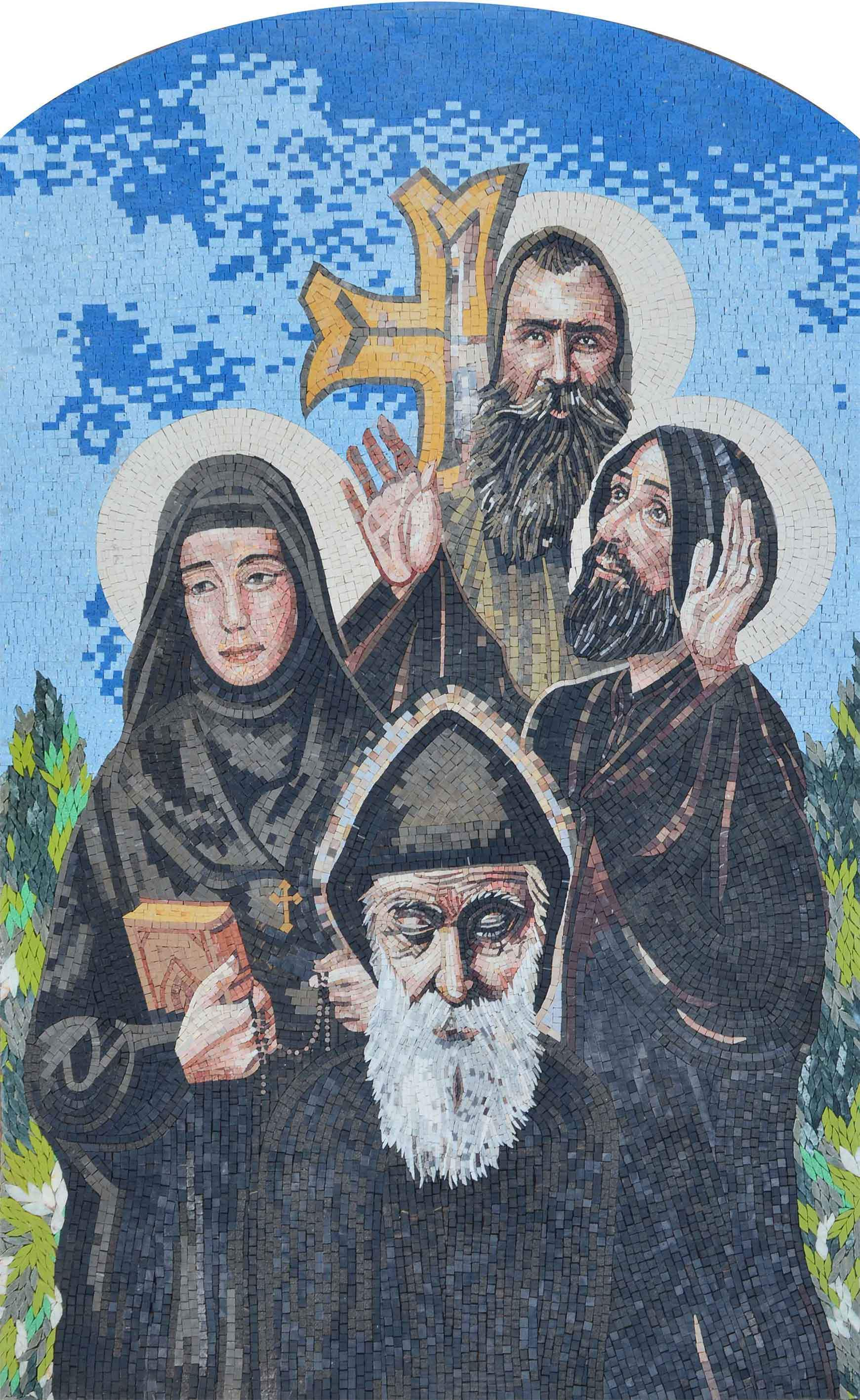 Mosaic Icon Saints From Lebanon Pic
