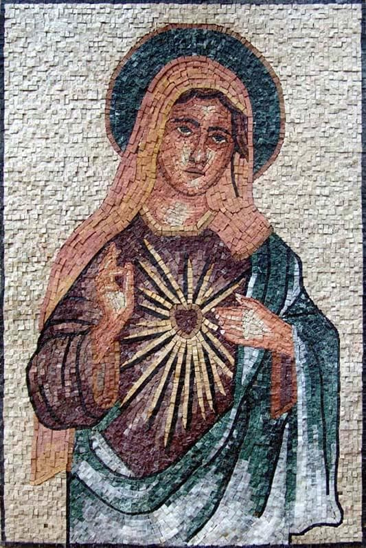 Mother of God Mosaic Mural