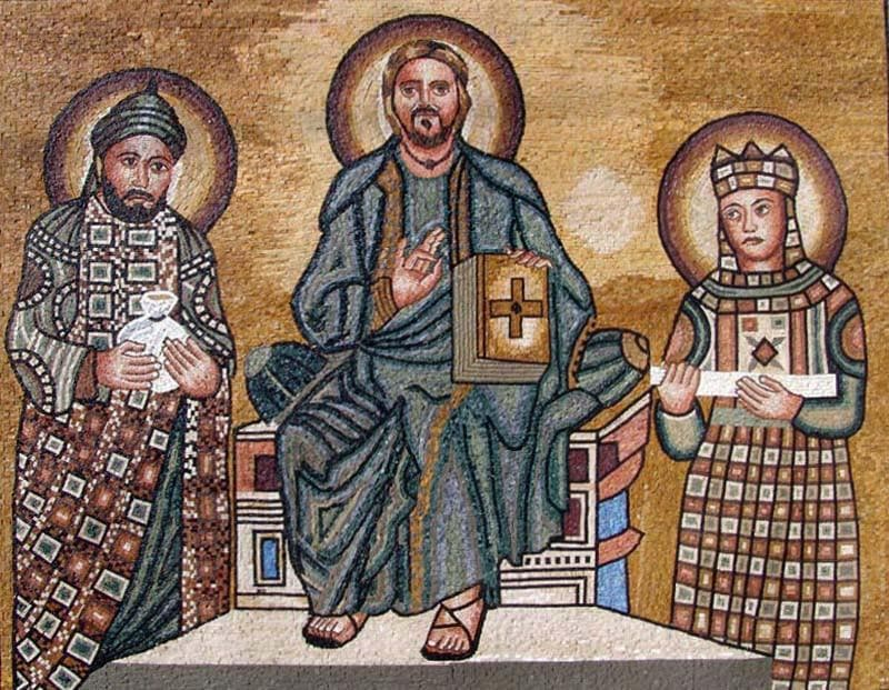 Jesus With St Peter and Paul Mosaic Art
