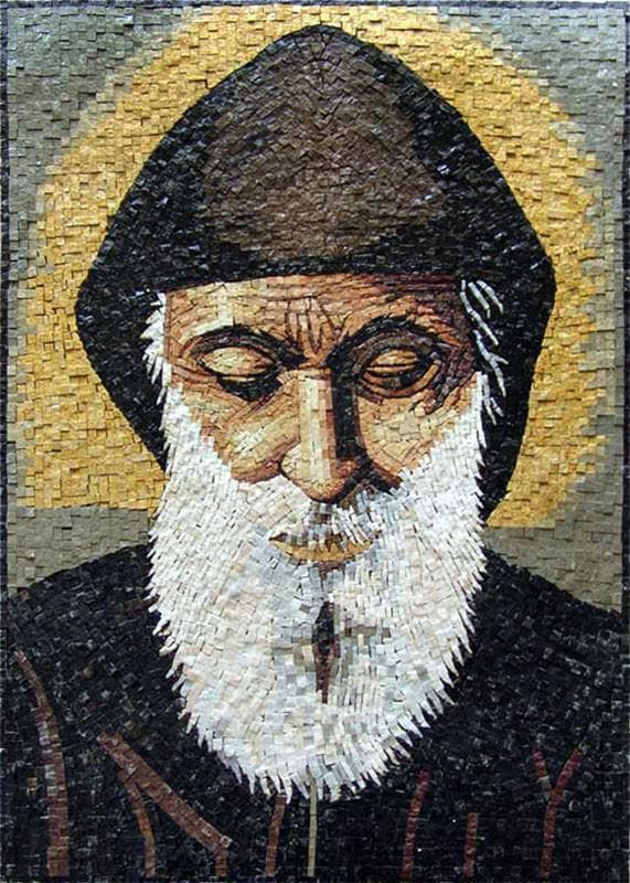 Saint Charbel Icon Mosaic