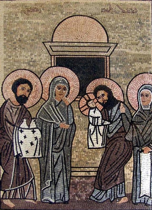 Christian Icon Mosaic Of Baby Jesus Pic
