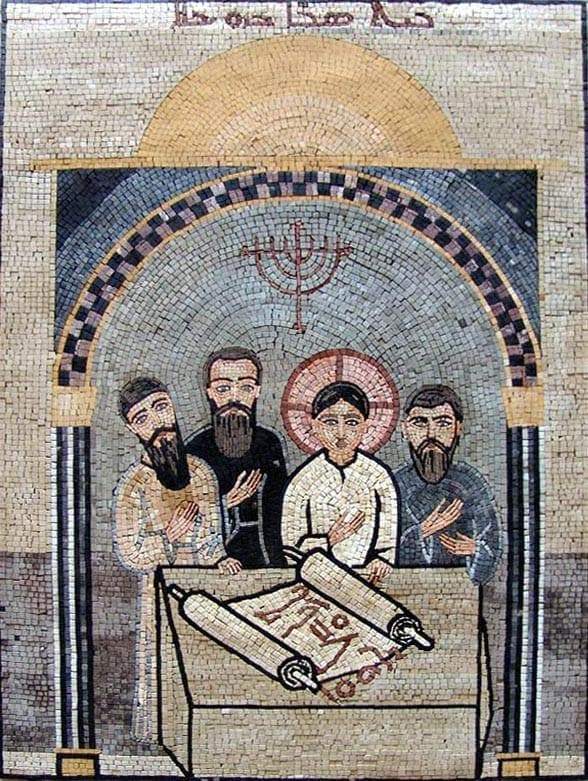 Arched religious art Mosaic Christianity