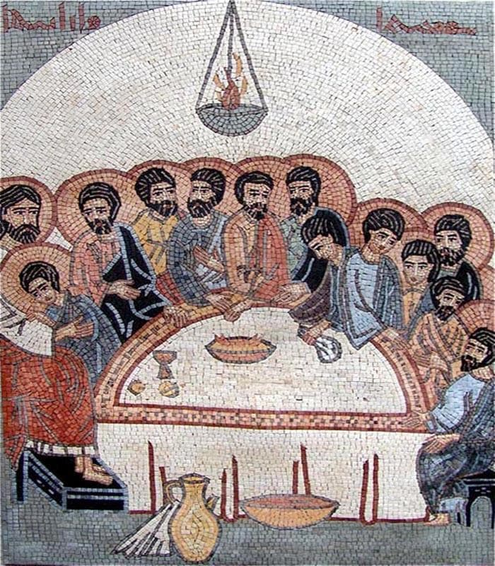 The Last Supper Mosaic Art