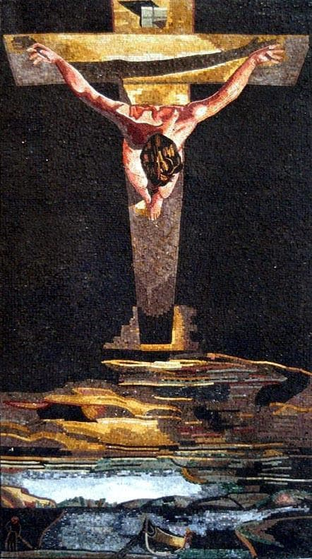 "Salvador Dali  Crucifixion of Jesus Christ"" - Mosaic Reproduction """