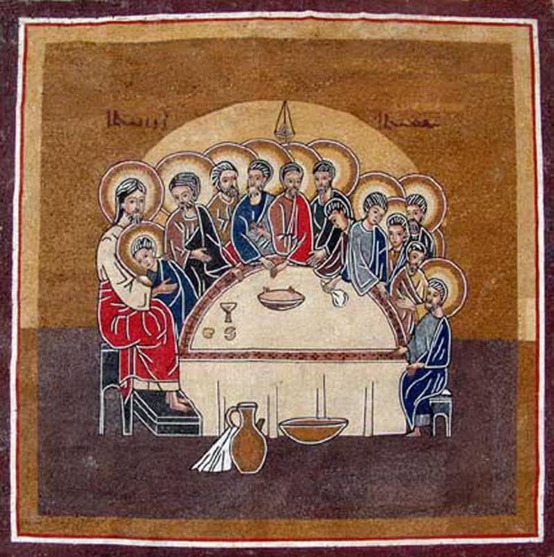 Religious Mosaic Of a version of the last supper