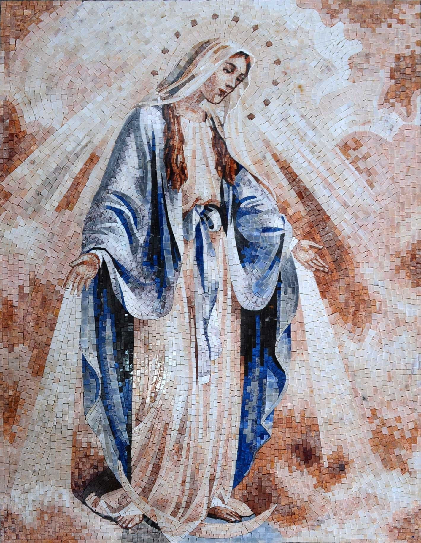 Our Mother Of Purity Religious Mosaic Pic