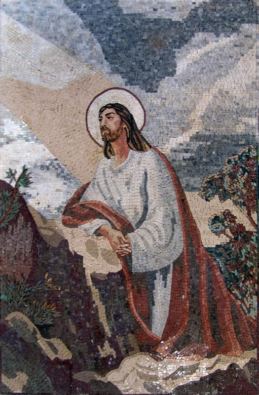 Jesus contemplating the Cosmos Mosaic