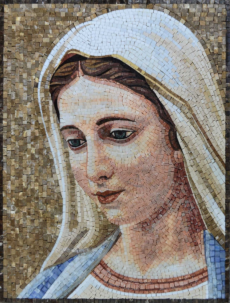 Mother Of Jesus Christian Mosaics