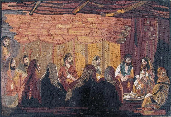 The Last Supper Mosaic Marble