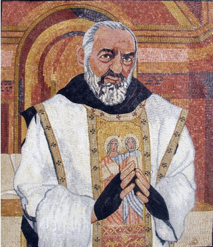 Padre Pio Mosaic Portray