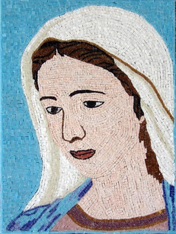 Virgin Mary Glass Mosaic