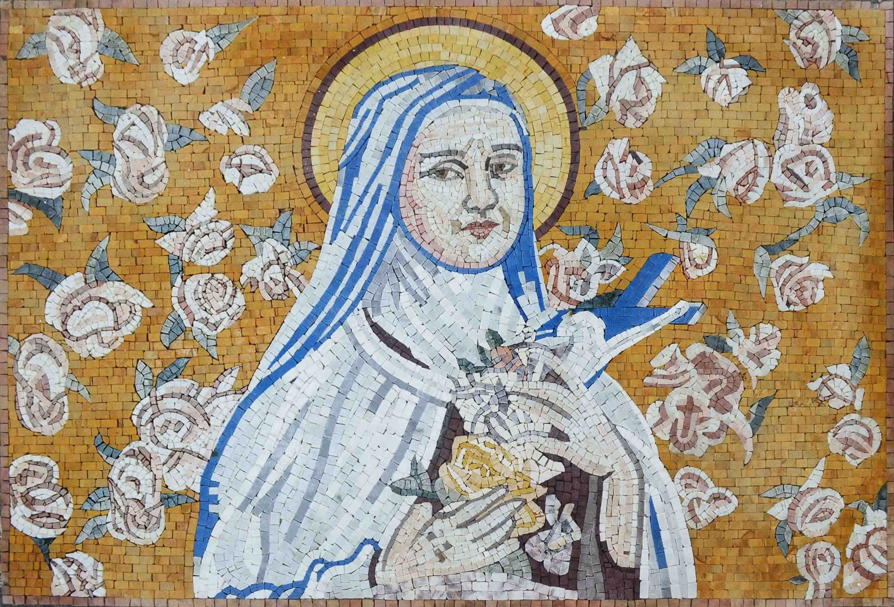 Saint Therese Religious Marble Mosaic Pic