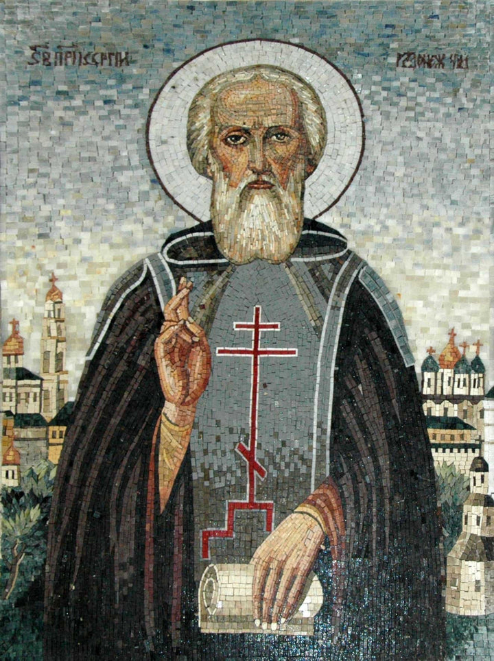 Saint Sergius of Radonezh Mosaic Mural