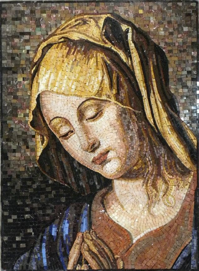 The Blessed Portrait Of Virgin Mary Religious Mozaico
