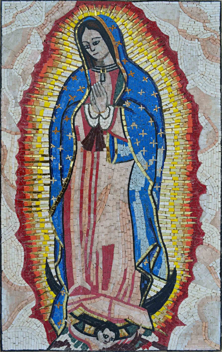 Mosaic Christian Icons- Virgin Mary Of Compassion