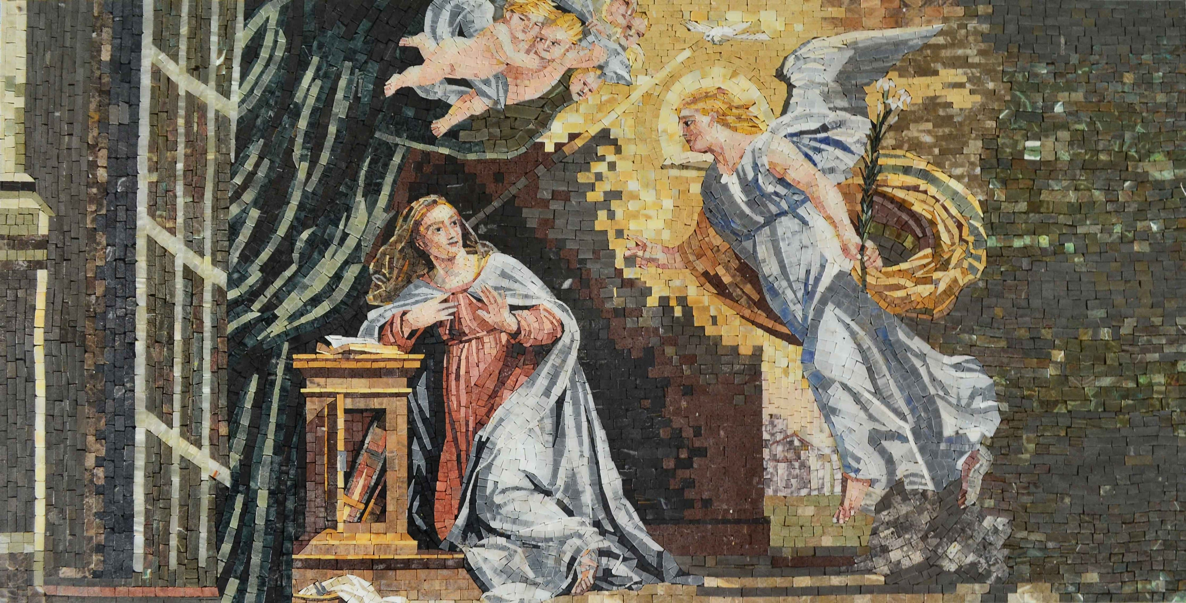 Annunciation Of Virgin Mary Christian Icon Mosaic Pic