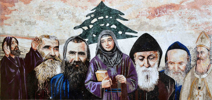 Christian Icon Mosaic of all Lebanese Saints