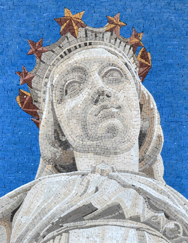 Lady of Lebanon Christian Art Mosaic