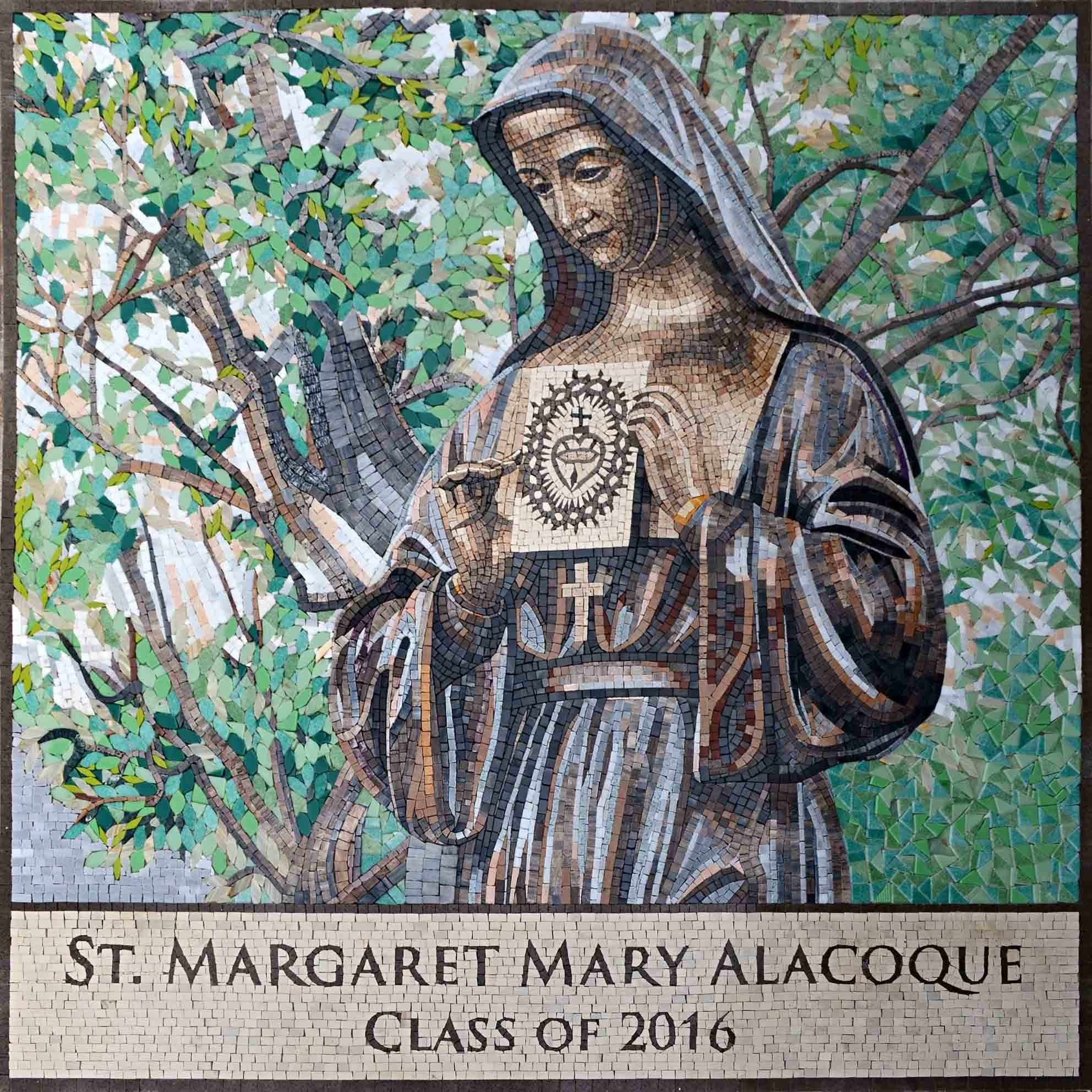 Mosaic Icon St Margaret Mary Alacoque Pic
