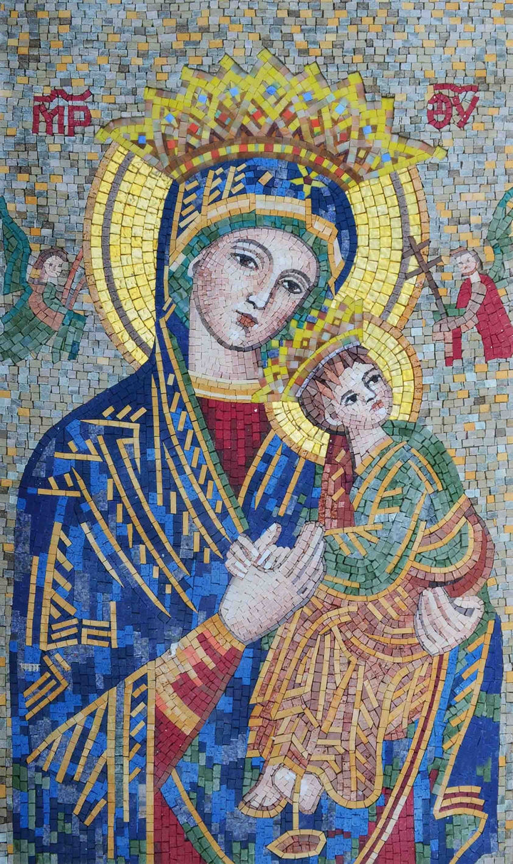 Mosaic Mural - Portrait Of Virgin Mary