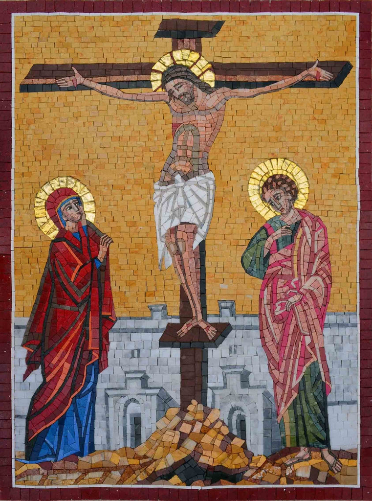 Mosaic Icon - Crucifixion of Jesus