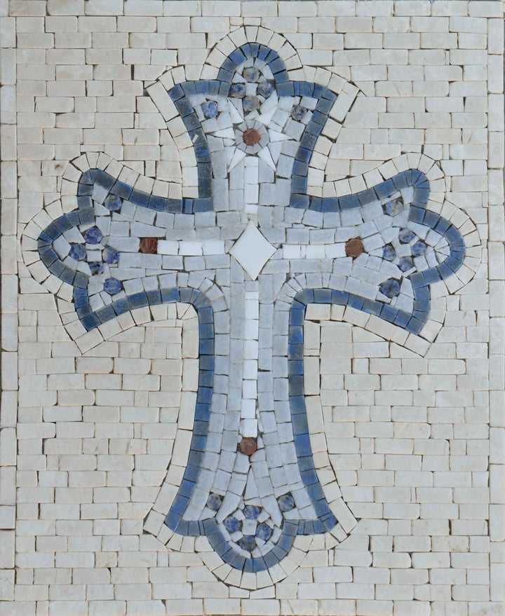 Religious Mosaic: The Christian Cross