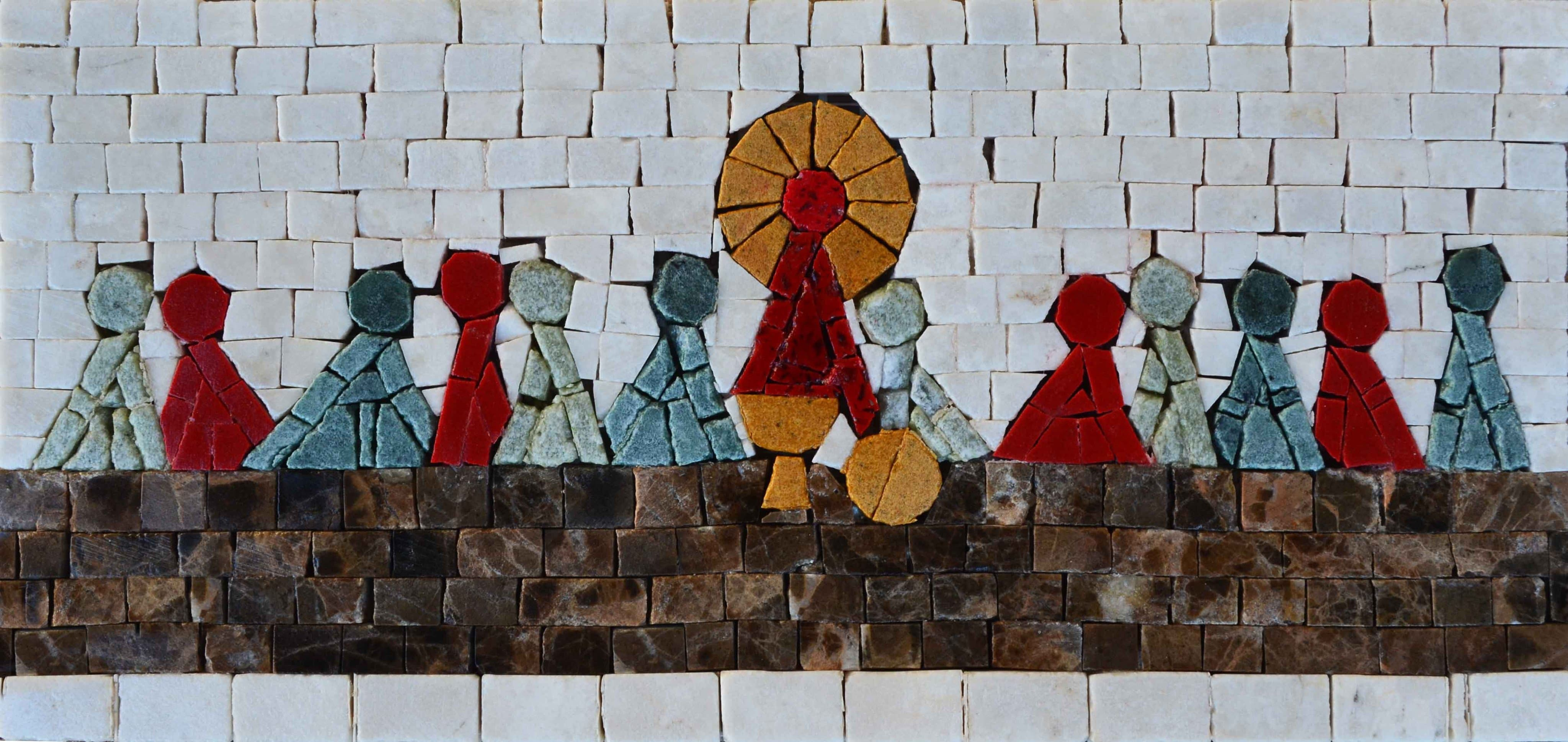 Religious Mosaic - The Last Supper