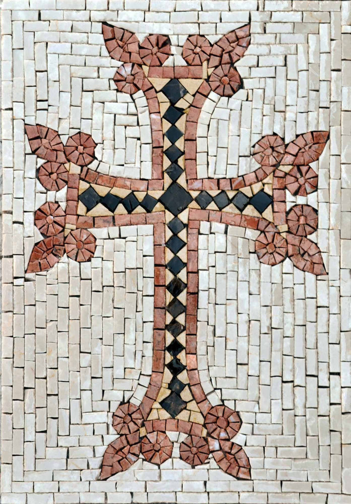 Mosaic Art - Armenian cross khachkar""""