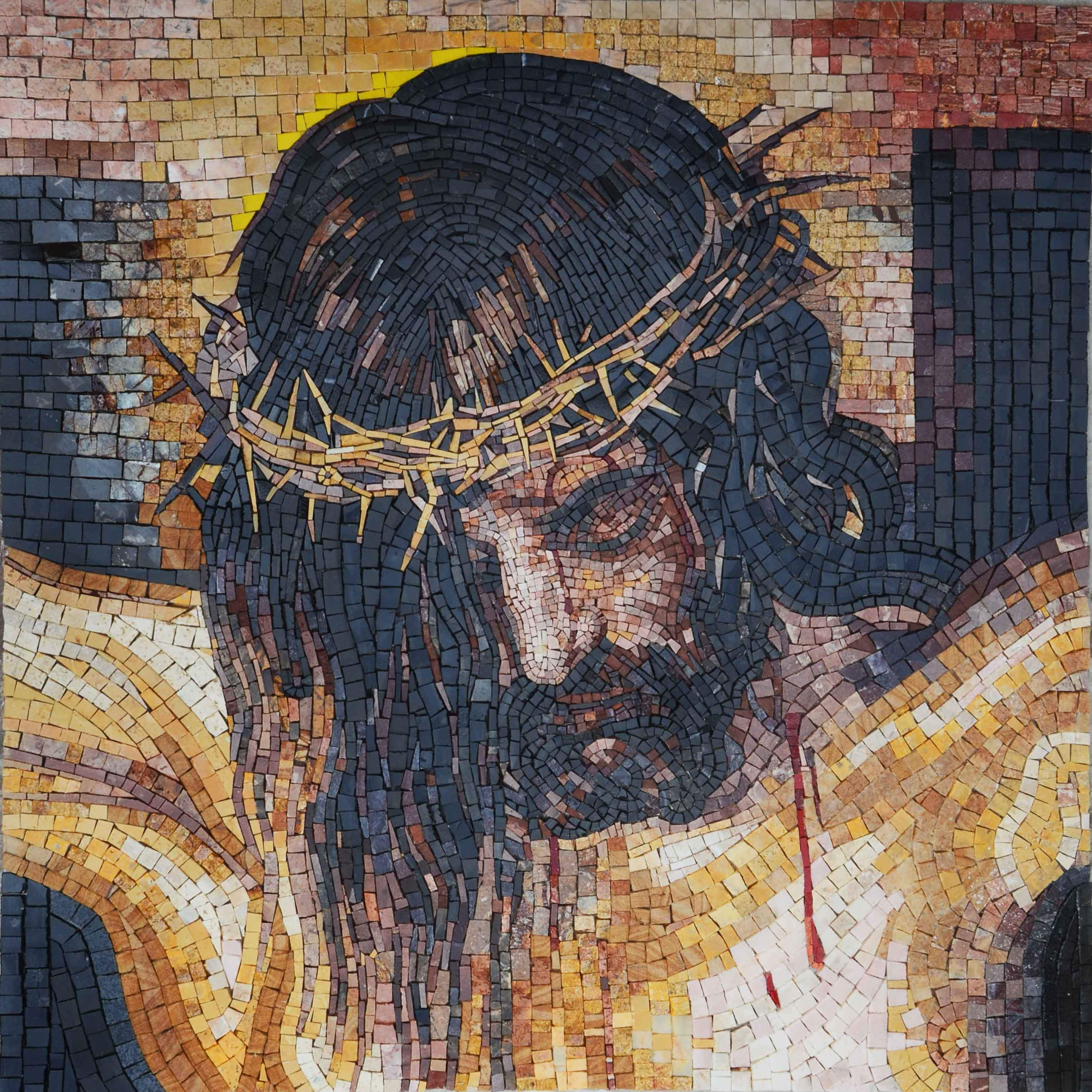 Mosaic Icon - Wounds of Jesus Crucified
