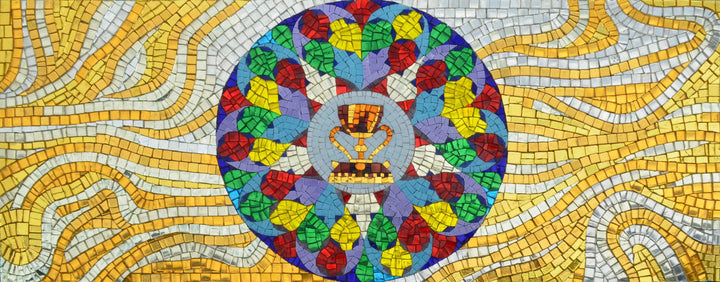 Glass Mosaic Mural - The Holy Grail