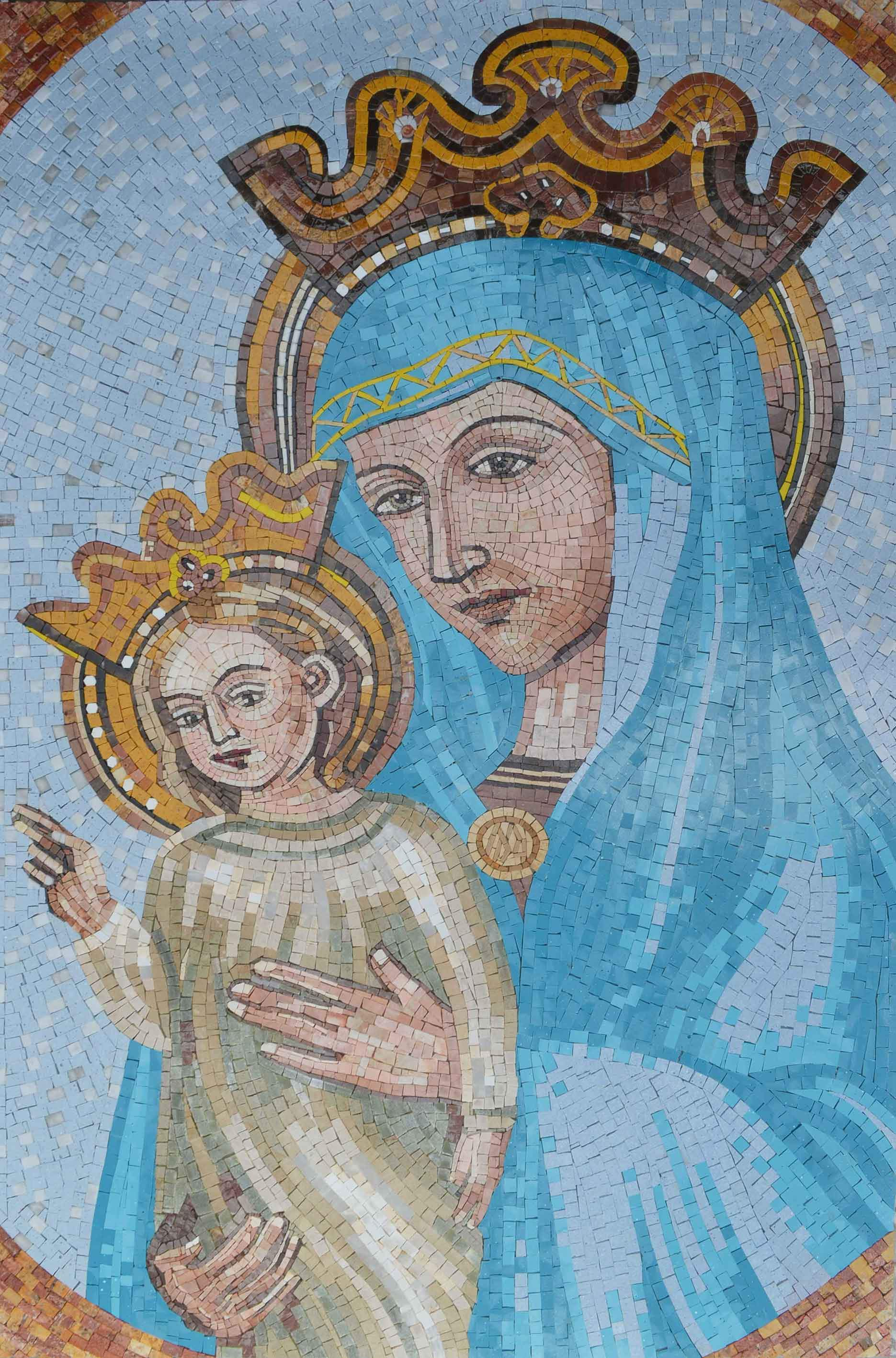 Jesus And Mary Icon Mosaic Pic