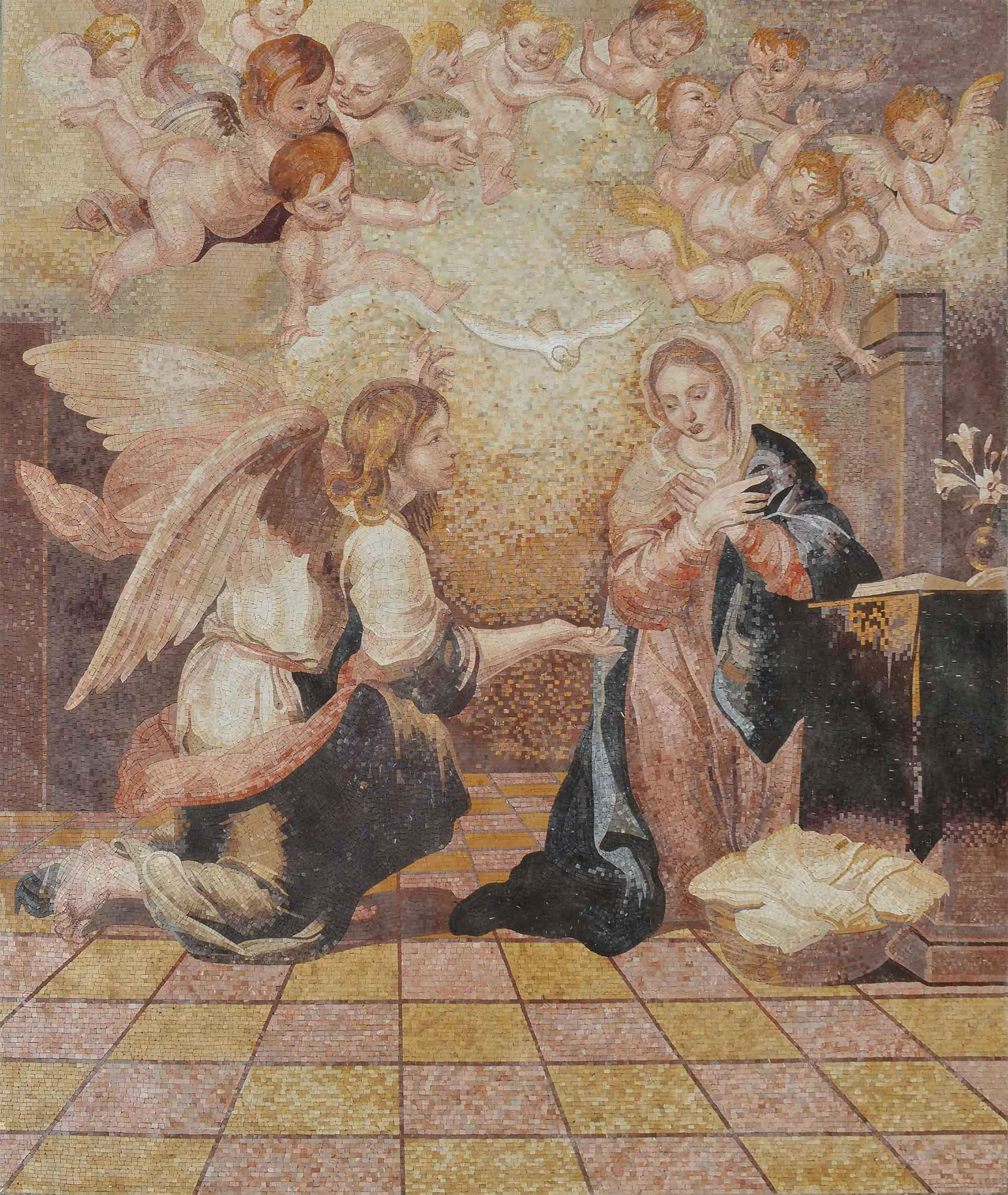 Annunciation of Virgin Mary - Mosaic Art Reproduction