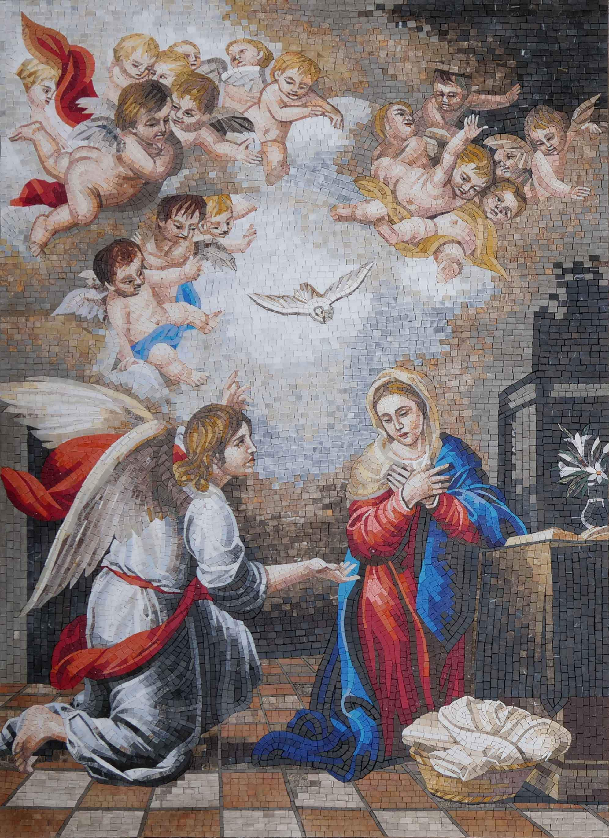 Annunciation Of Virgin Mary Mosaic Art Reproduction Pic