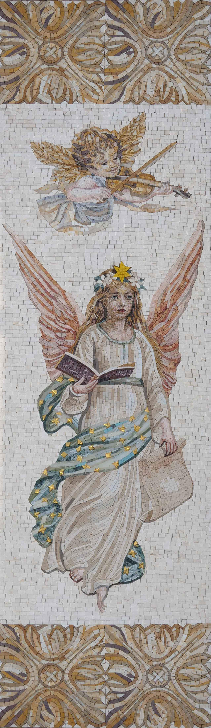 Angels Religious Mosaic Art