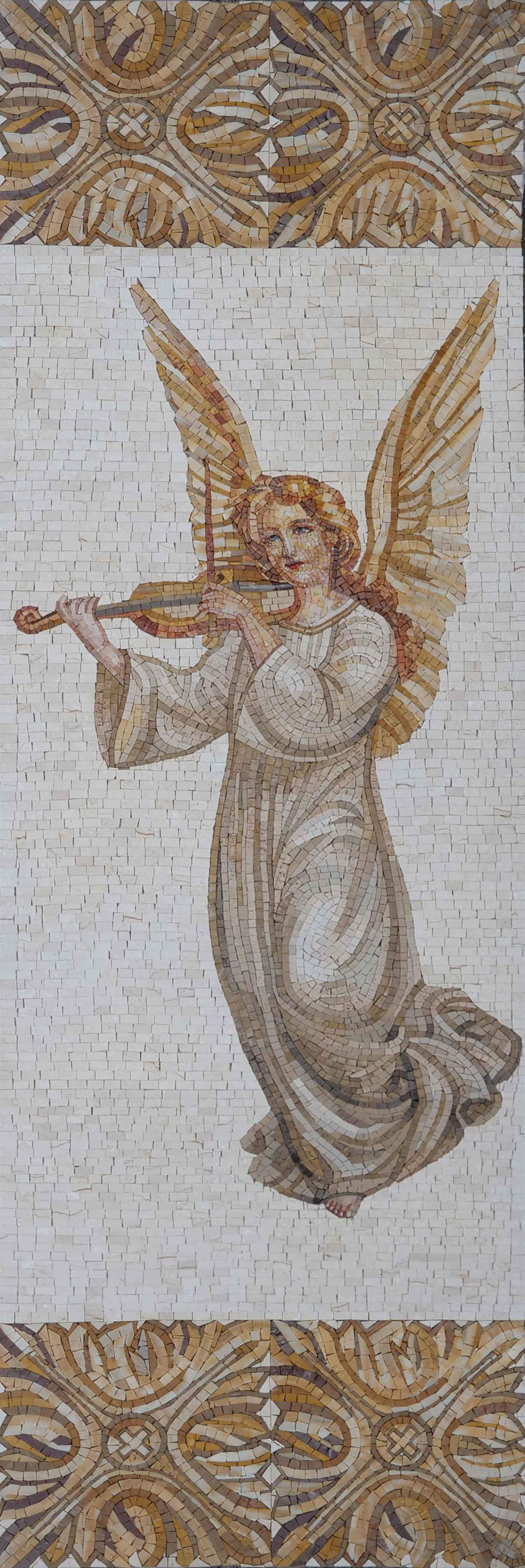 Angel Playing The Violin Mosaic Art Pic