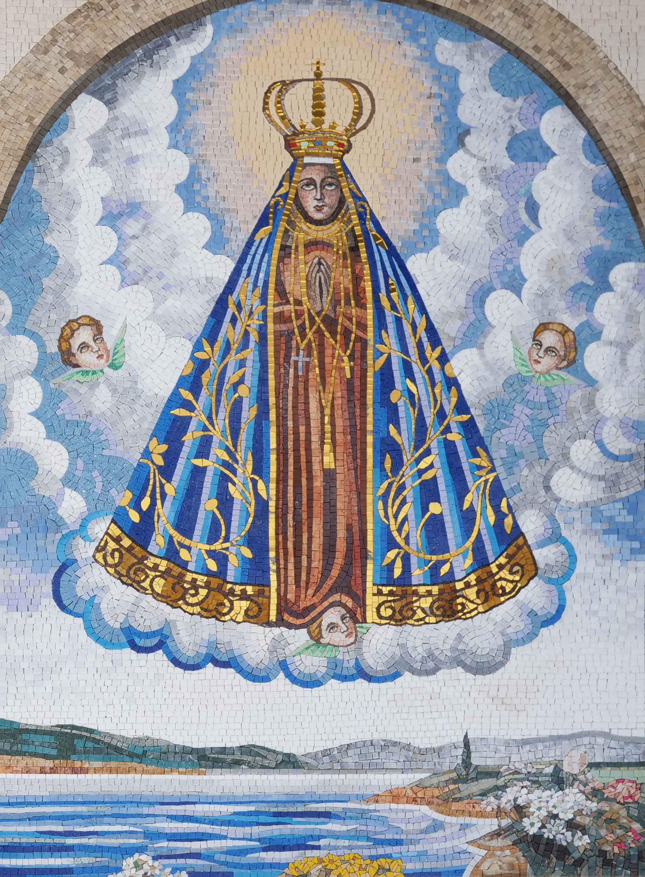 Our Lady Of Aparecida Religious Mosaic Art Pic