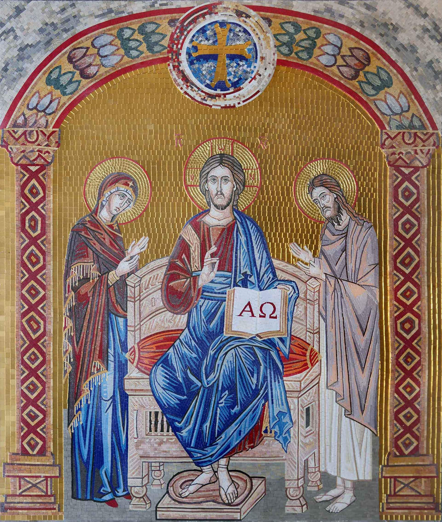 Revelation of Christ and God Mosaic Mural