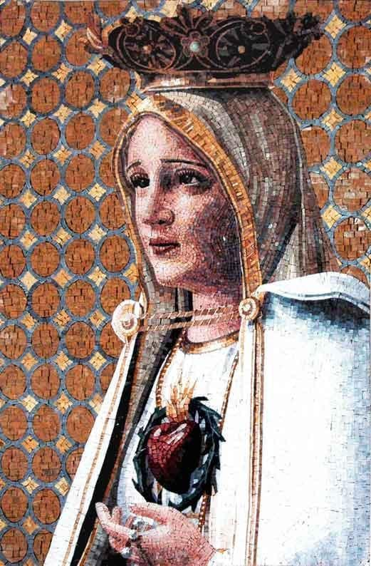 Mother Mary the mother of Jesus Mural Mosaic