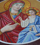 Religious Mosaic - Jesus and Mary