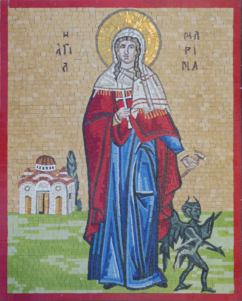Saint Marina Orthodox - Christian Mosaic Art