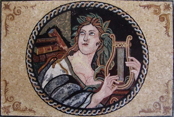 Mosaic Art - The Portrait of Apollo