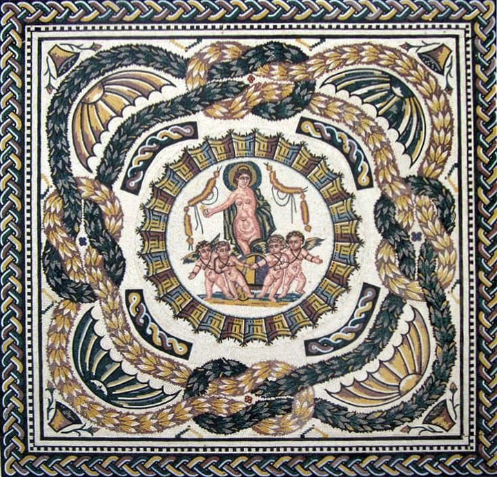 Greek God Portrait - Mosaic Accent